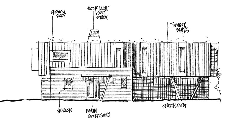sketch front elevation